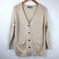Stitch Play Wool Long Sleeve Button Front Cardigan Sweater, Size Medium