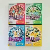 Nintendo Gameboy Pokemon Green Red Pikachu Blue set Japan GB F/S