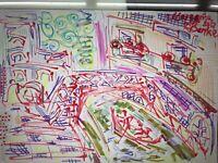 ORIGINAL Malerei PAINTING abstract abstrakt contemporary art city stadt venedig