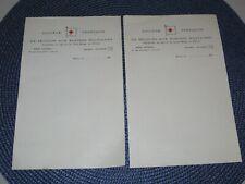 Document Croix-Rouge Française Secours aux blessés Militaires papier à lettre