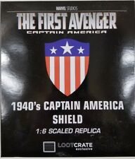 1940s Captain America Shield 1:6 Scaled Replica LootCrate Loot Crate Exclusive