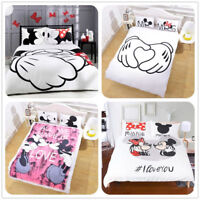 Disney Mickey Minnie Mouse Quilt Cover Kids Bedding Set Duvet Cover Pillow Cases