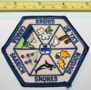 Girl Guides Saanich Shores Division Canada Badge Label Patch