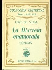 LA DISCRETA ENAMORADA  LOPE DE VEGA ESPASA-CALPE 1940 COLECCION UNIVERSAL