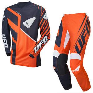 Neuf UFO 2021 Vanadium Motocross Enduro Jersey Et Pantalon Combo - Orange Noir