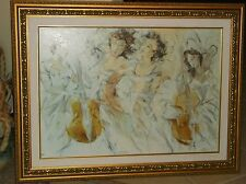 "FRAMED GARY BENFIELD ""SYMPHONY"" SIGNED/NUMBERED SERIOLITHOGRAPH 44 5/8""W X 34""H"