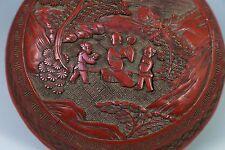 Chine,ancienne boîte en laque de cinabre,china chinese antique lacquer box