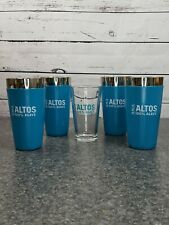 4 Olmeca Altos Tequila Cocktail Shakers Non Slip Rubber Mixers W/ 1 Glass NEW