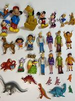 Large Joblot Bundle Mixed Character Toy Figures Disney Dora Scooby Doo Dinosaurs