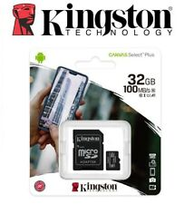Carte Memoire Micro SD SDHC 32 Go Class 10 Kingston Canvas Select Plus Neuf