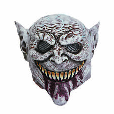 Mens Scary Goblin Mask Bloody Tongue Halloween Fancy Dress Costume Prop Monster
