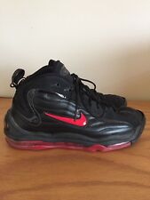 "Nike Air Max Uptempo ""Reggie Miller"" Black And Red Mens Size 10"