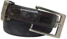 Kids Brown Black Genuine Crocodile Skin Leather Belt Dress Western Cowboy 28