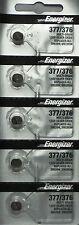 ENERGIZER 377/376 SR626SW SR626W (5 Piece) BATTERIES NEW SEALED Authorize Seller