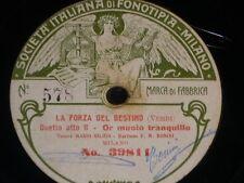 OPERA 78 rpm RECORD Fonotipia MARIO GILION & BONINI Trovatore VERDI La Forza