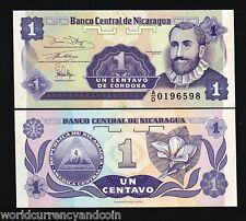 NICARAGUA 1 CENTAVOS P167 1991 *BUNDLE* FLOWER UNC CURRENCY MONEY BILL 1000 PCS