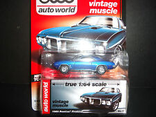 Auto World Pontiac Firebird 1969 Blue 1/64 Detail Car