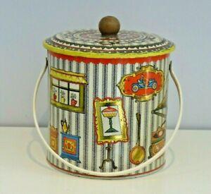 """Vintage ?1960s Baret Ware """"EDWARDIAN"""" Biscuit Barrel with handle"""