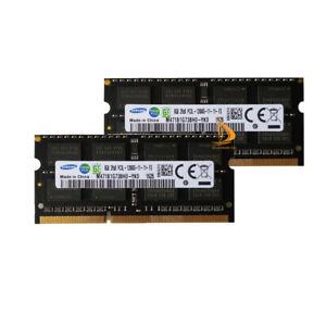 16GB Samsung 2x 8GB 2RX8 DDR3 1600MHz PC3L-12800 SO-DIMM Laptop RAM Memory 1.35V