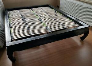Opiumbett Palisander Handarbeit 160 x 200 cm inkl. verstellbarer Lattenroste