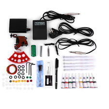Tattoo Kits Gun Machine Power Pedal 10 Color Ink Sets Needle Gripping Tip UZGH