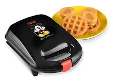 Disney Mickey Mouse Waffle Maker Nonstick Plates Power Light Latching Handle
