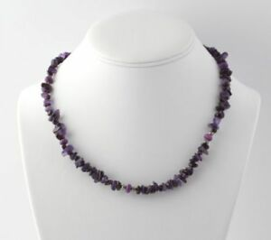 """NEW Beaded Purple Amethyst & Quartzite Necklace 20"""" - Sterling Silver"""