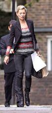 Kate Moss TOPSHOP Variegated Open Weave Scoop Sweater EUR36 US4 UK8 soft