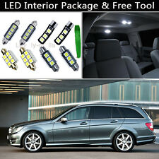 11PCS Canbus LED Interior Lights Package kit Fit 2008-2012 Benz W204 C-Class J1