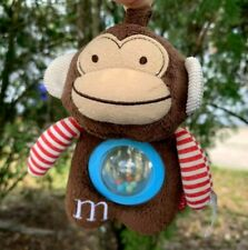 "RARE Skip Hop Monkey Letter M Baby Rattle 6"" Plush Stuffed Animal Toddler Toy"