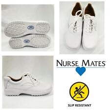 New Nurse Mates Macie WhiteLeather Medical Nursing Lace-up Shoes Slip resistant
