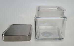 Anchor Hocking 85753 Stackable 1 Qt Jar w/ Brushed Aluminum Lid