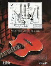 The Line 6 Variax acoustic 700 guitar 2004 advertisement 8 x 11 ad print
