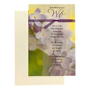 Sympathy Greeting Card for Mother - Remembering Your Wife Her - Deluxe, Double S