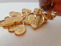 PERSONALISED MR & MRS LOVE HEART WEDDING TABLE DECORATIONS X 50