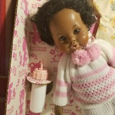 1981 Ideal Tiny Tears Doll With Pattern Never Off Of Liner African American