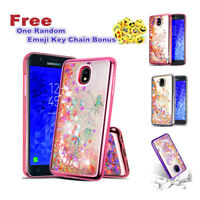 For Samsung Galaxy  J7 2018 Glitter Sparkle Liquid Quicksand Rubber Case