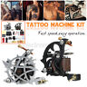 Pro Complete Tattoo Kit 2 Coil Gun Machine Power Supply Handle Needle Accessory