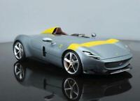 Bburago 1:18 Ferrari Monza SP1 Silver Diecast Model Racing Car NEW IN STOCK