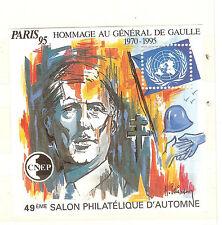 BLOC CNEP N° 21 ** salon automne1995 GENERAL DE GAULLE  LUXE