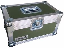 "7"" Single 200 Swan Flight Case Vinyl Record Box (Olive Green Rigid PVC)"