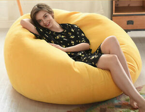 Indoor Leisure Lazy Cotton Bean Bag Cover removable washable bed cover for Room