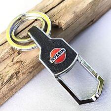 NEW NISSAN LOGO BELT CLIP HOOK KEYCHAIN KEY-CHAIN Key Ring KC081