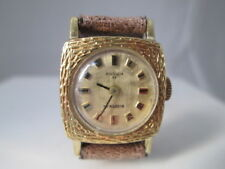 Reloj mujer. Anker 55. Alemania. Acero / chapado oro. Cuerda. 17 gemas. Años 60