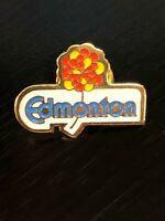 Vintage Collectible Edmonton Colorful Metal Pinback Lapel Pin Hat Pin