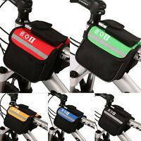 Bicycle Cycling Bike Top Frame Front Pannier Saddle Tube Bag Double Pouch Holder
