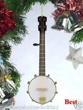 """OJO12 5"""" Banjo Christmas Ornament Instrument Rock Band Stage Music Strings"""