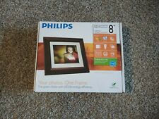 """Philips 8"""" Digital Picture Photo Frame Mahogany LCD Panel   HGBin"""