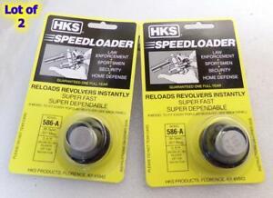 2 Lot - HKS 586-A SpeedLoader for S&W 38/357 L Frame 581 686 RUGER GP100 6-Shot