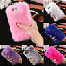 Luxe Housse Etui Coque Protection Fourrure Peluche Strass Chaude Pr Iphone 6 6S